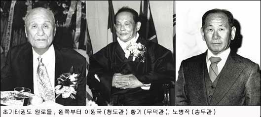 左から李元國、黄琦、盧秉直(2000年)
